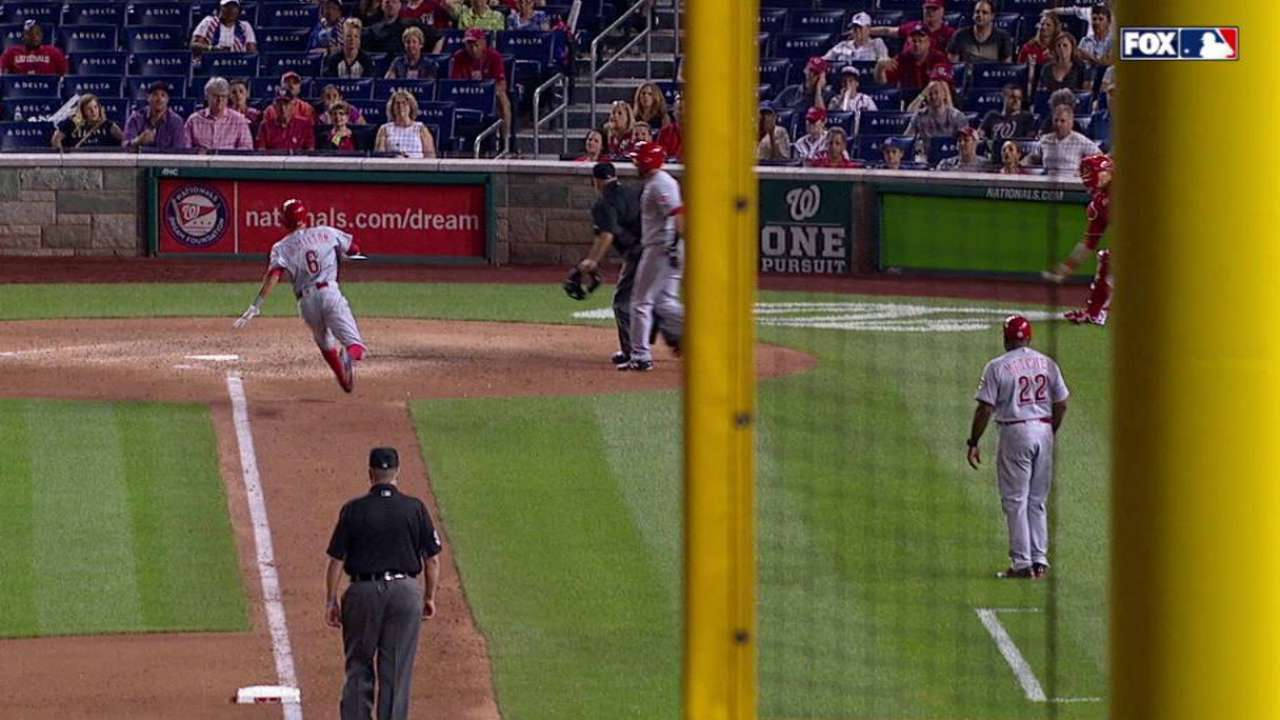 Wild pitch leads to run