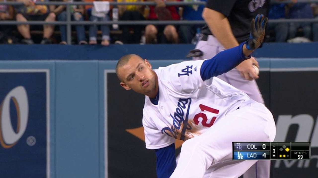 Dodgers roll past Rox as Kazmir fans 10
