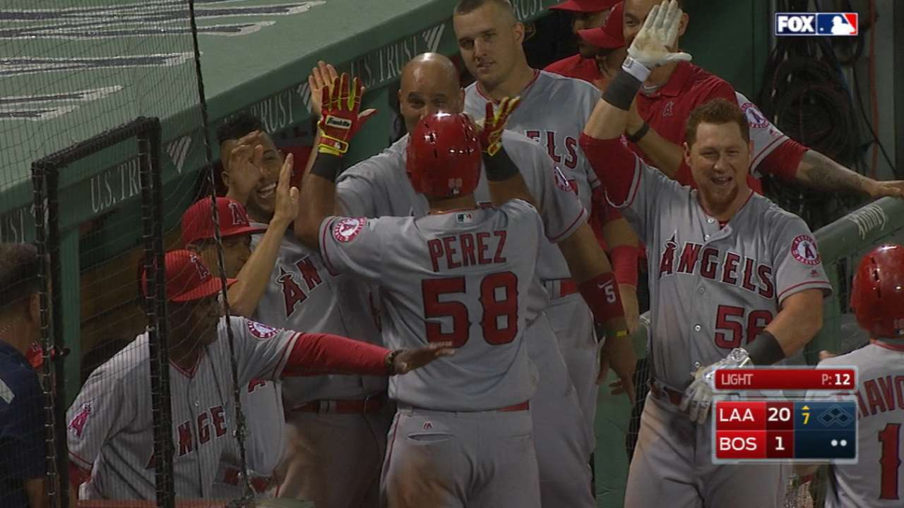 Rally Monkey resurfaces in Angels' 11-run 7th