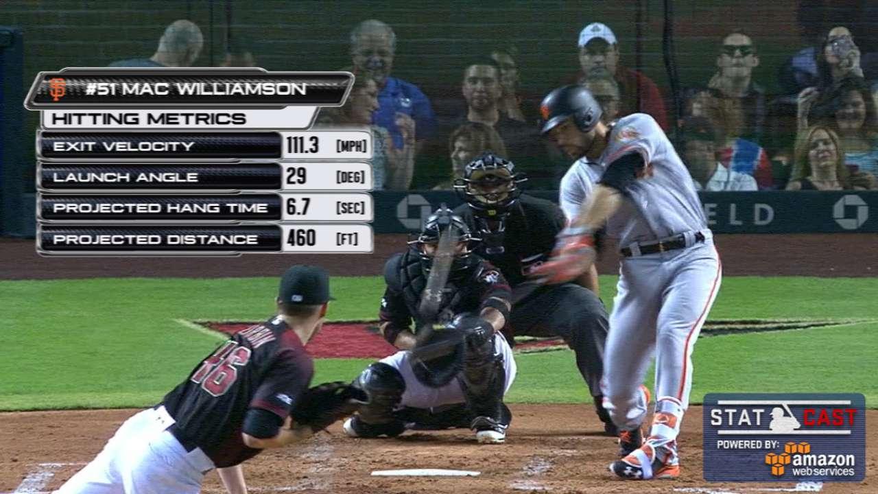 Statcast: Williamson's long HR