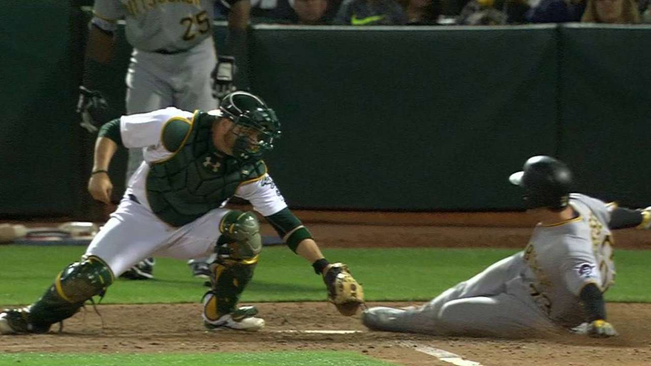 Crisp throws out Freese at home