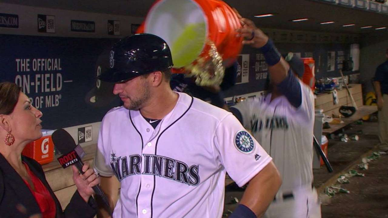 Zunino on his first game back