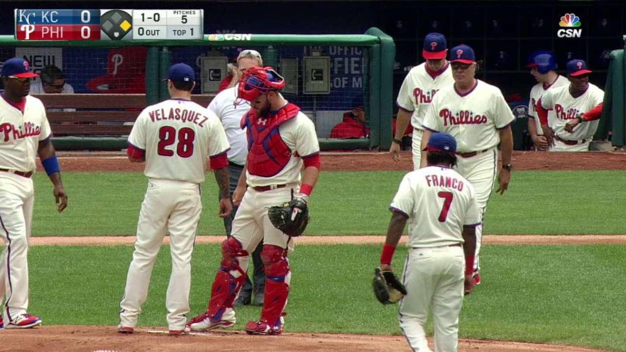 Velasquez gets shaken up