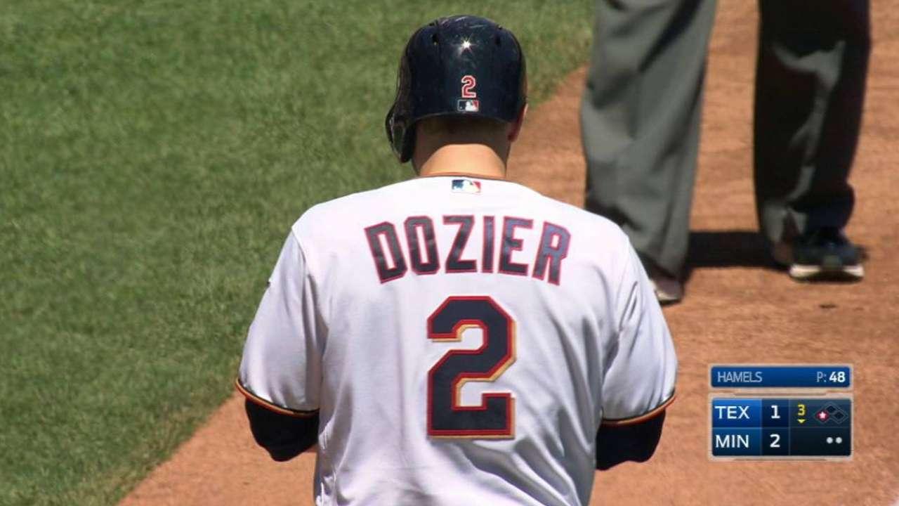 Dozier's two-run triple