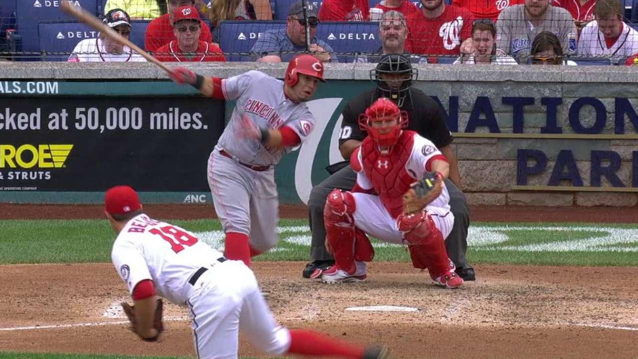 Cabrera breaks up no-hitter