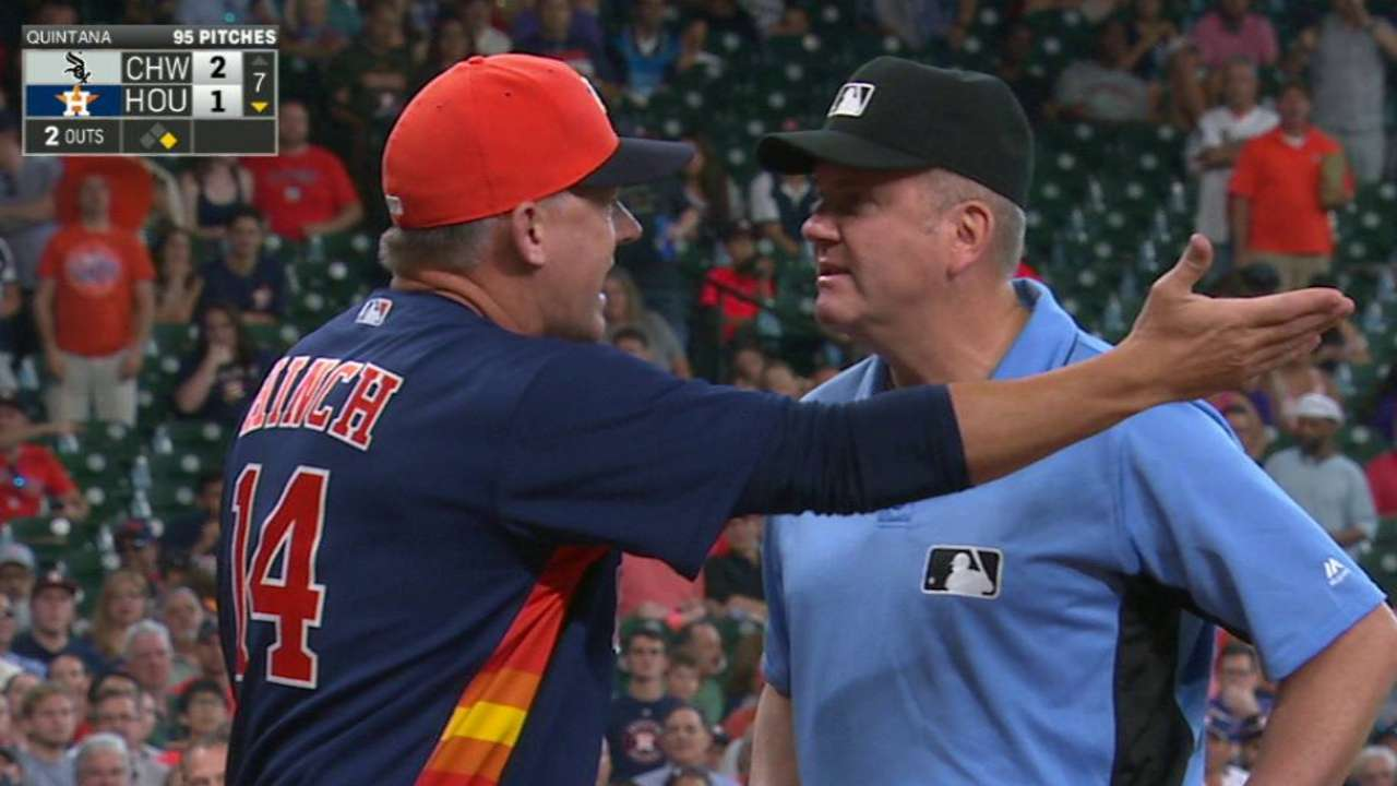 Hinch gets ejected in the 7th