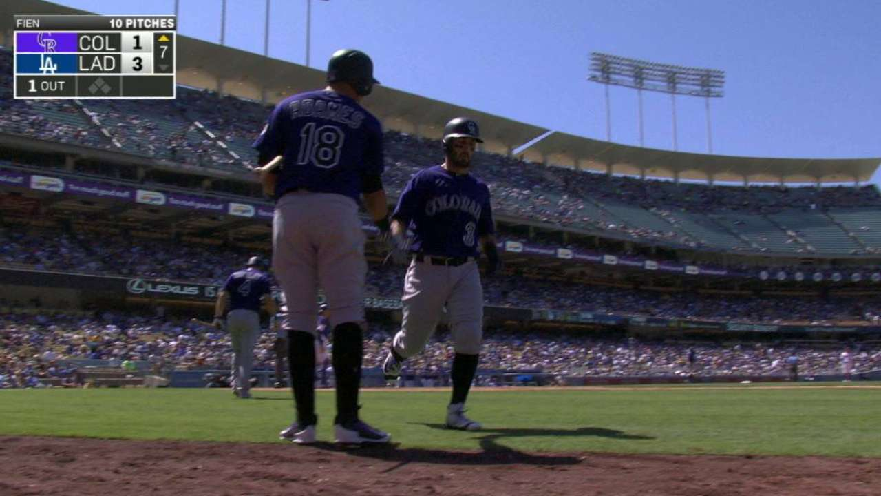 Descalso thwarts shutout with home run