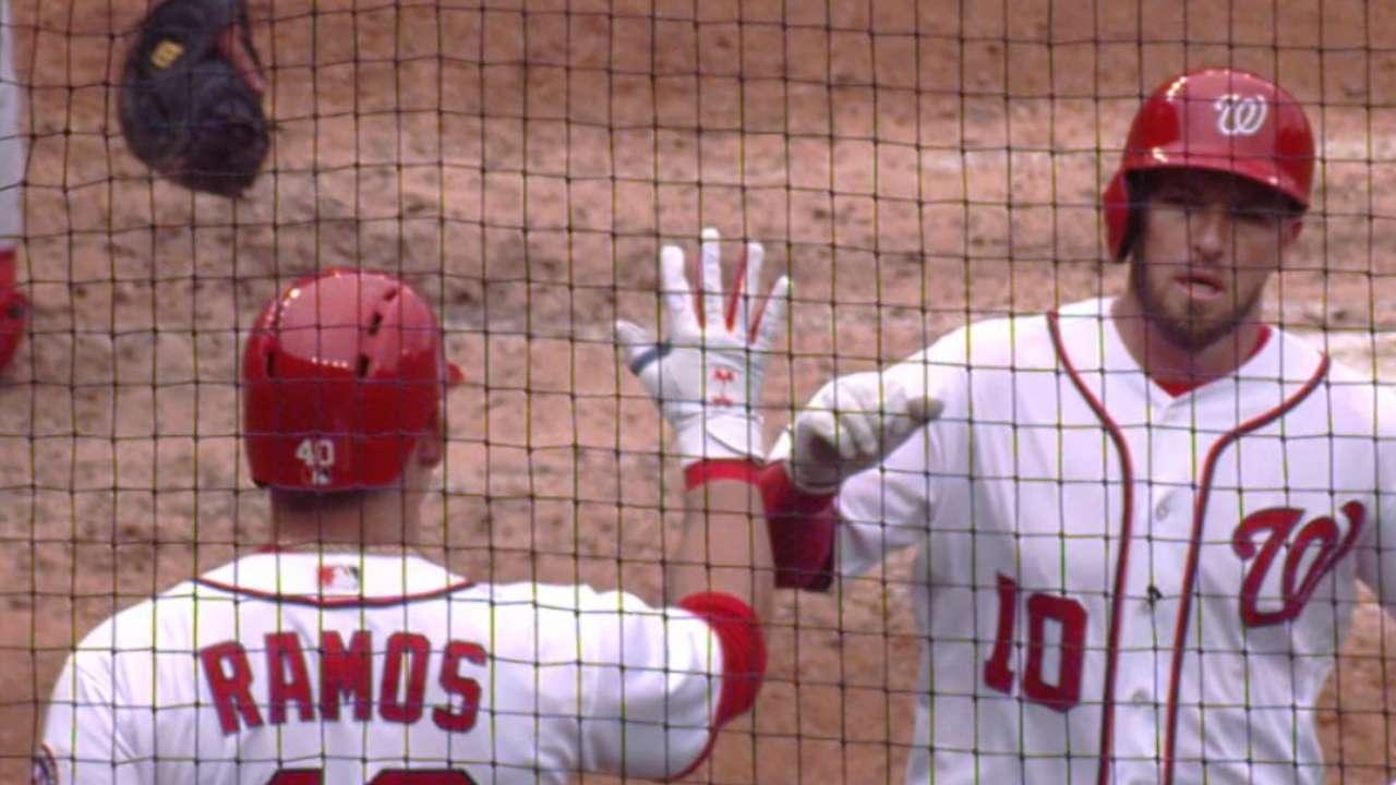 Nats blast six home runs