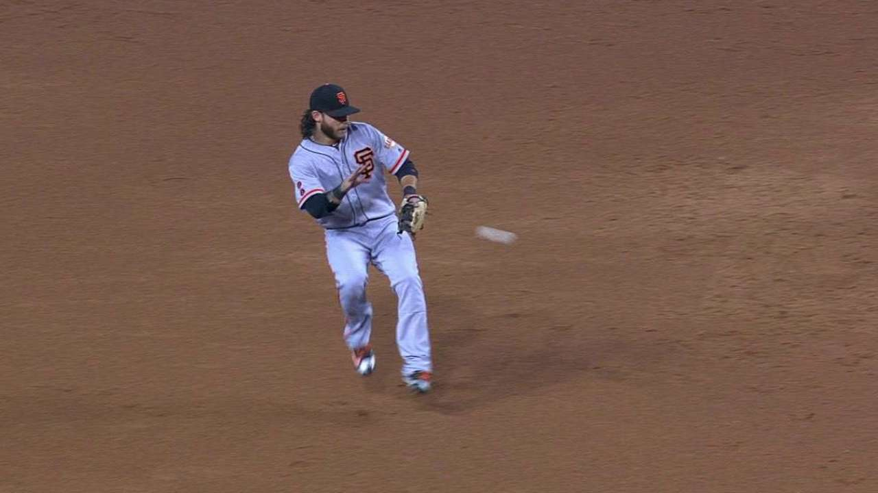 Crawford's great barehanded play