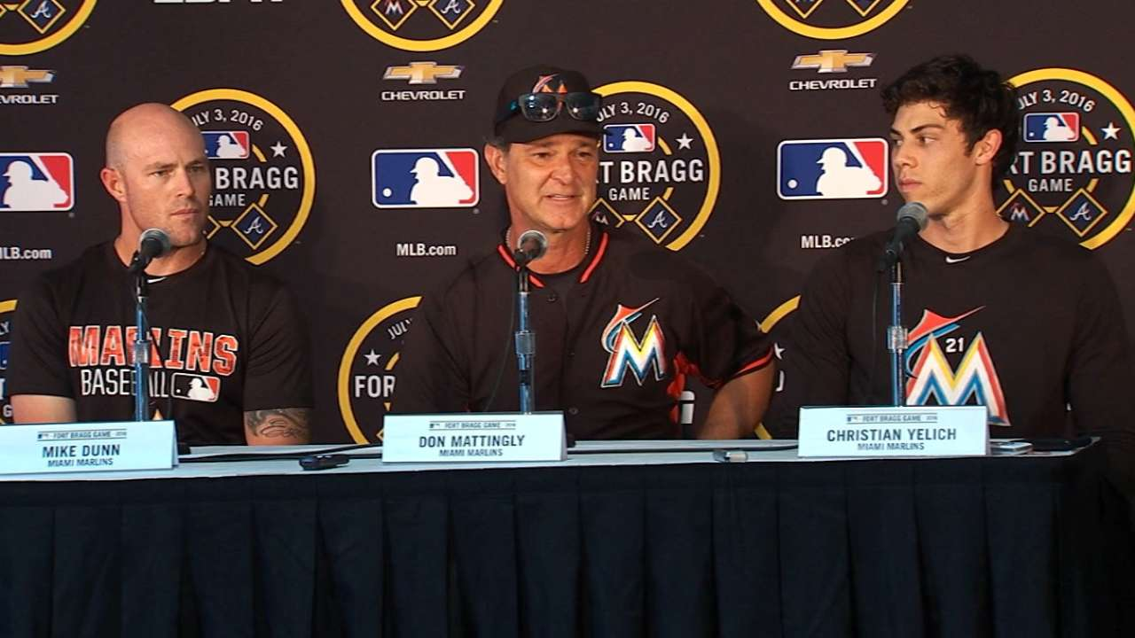Marlins proud to play for troops