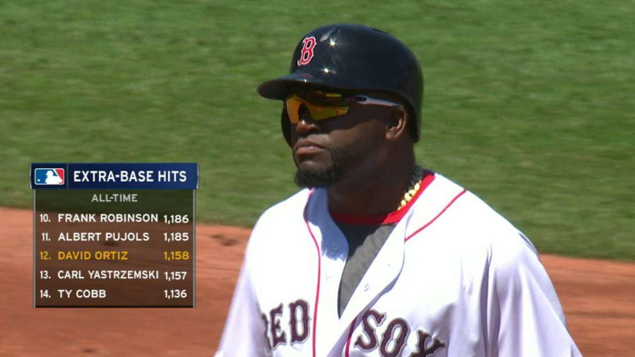 Papi passes Yaz with double