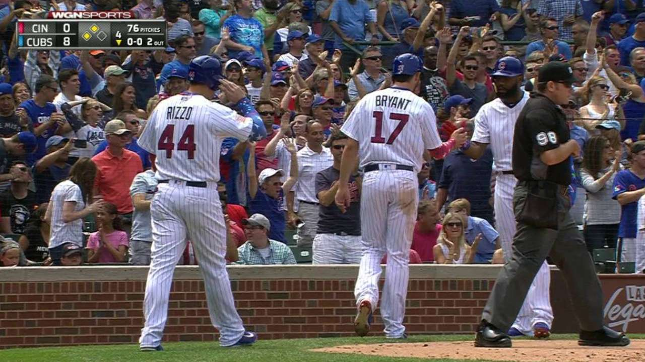 Cubs score two on error