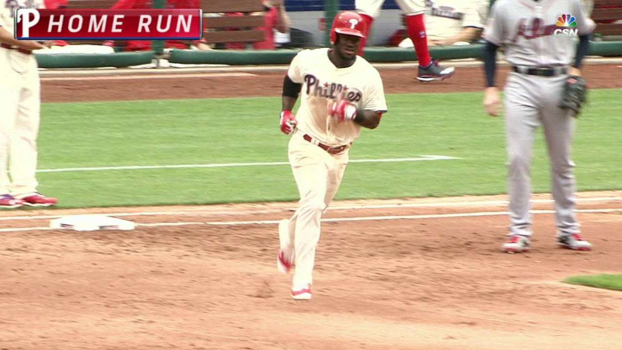 Eickhoff fans 8, Phils erupt for 7-run 2nd in win