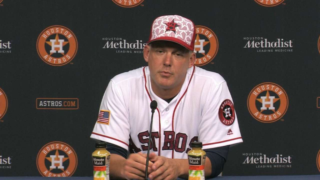 Hinch on 2-1 win over Mariners