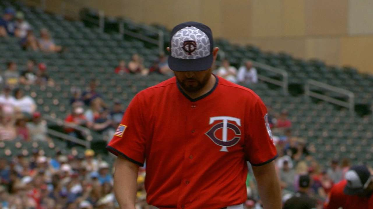 Twins' luck runs out in Nolasco's quality start