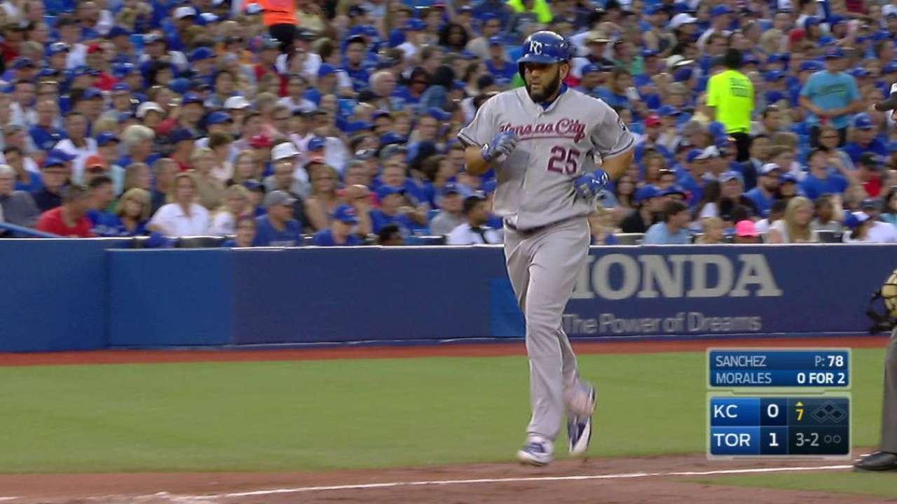 Morales' game-tying homer