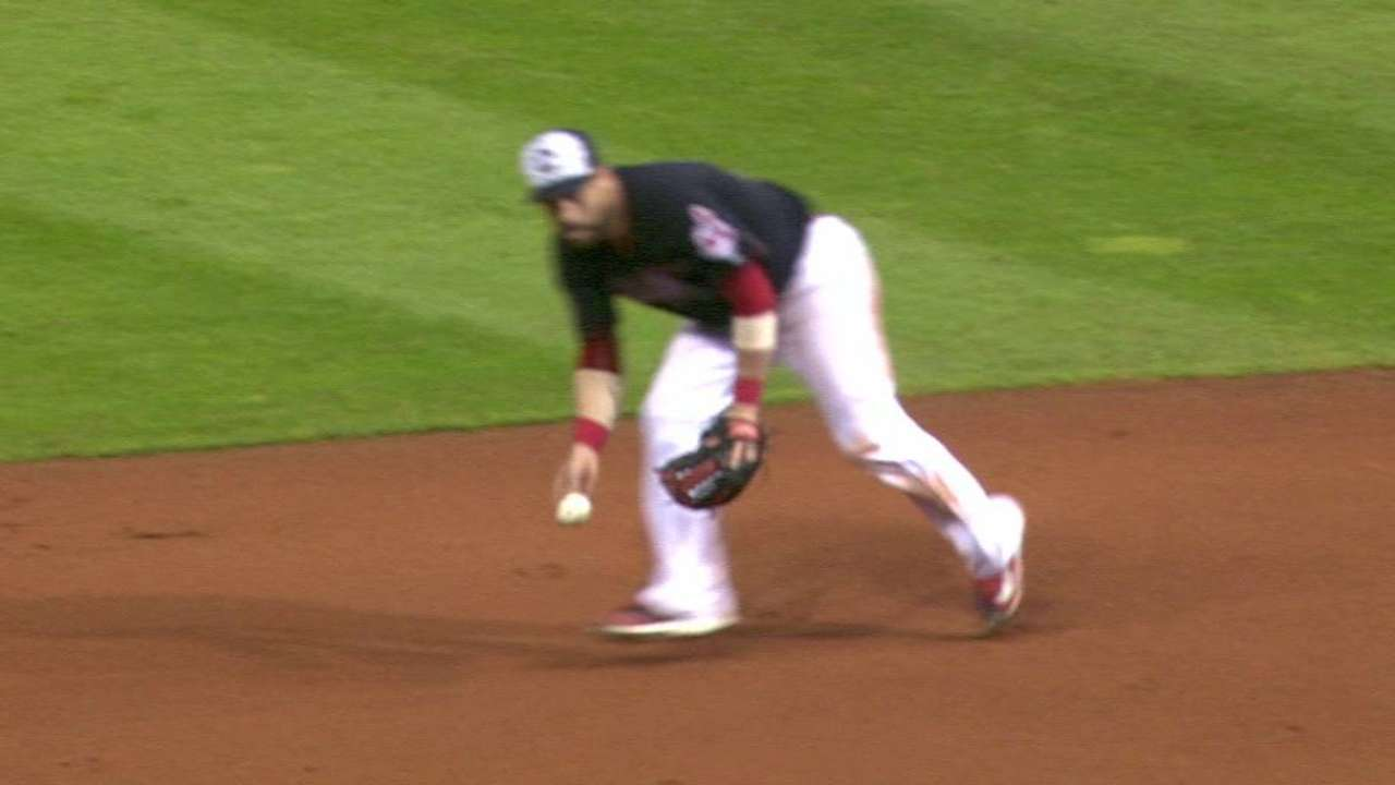 Tribe turns a double play