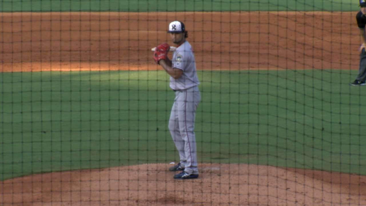 Darvish makes rehab start in Double-A