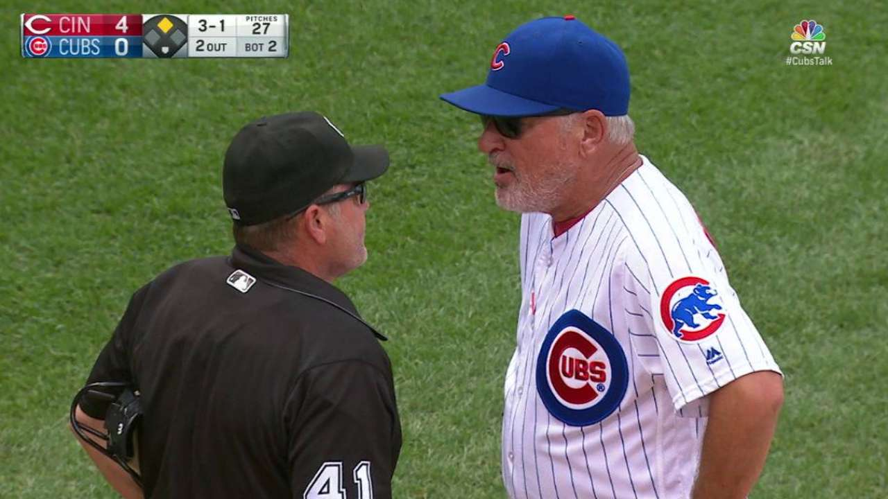 Maddon's ejection from the game