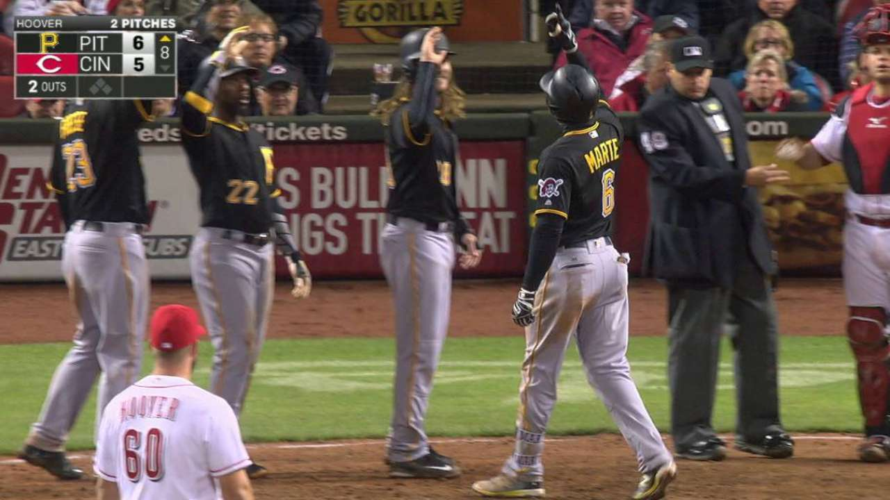 Marte's grand slam lifts Bucs over Reds