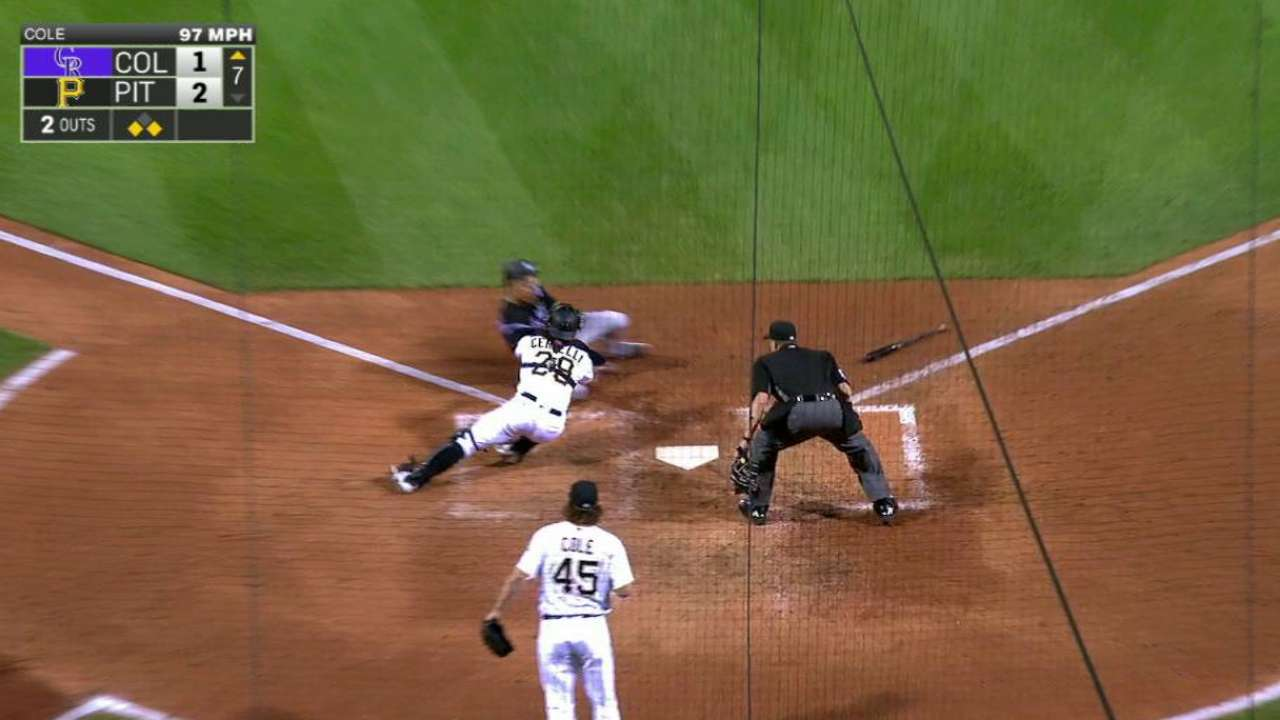 Work of Marte: 100-mph throw nails tying run