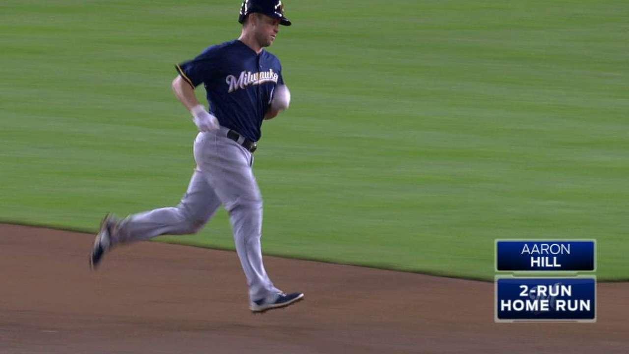 Hill's two-run homer