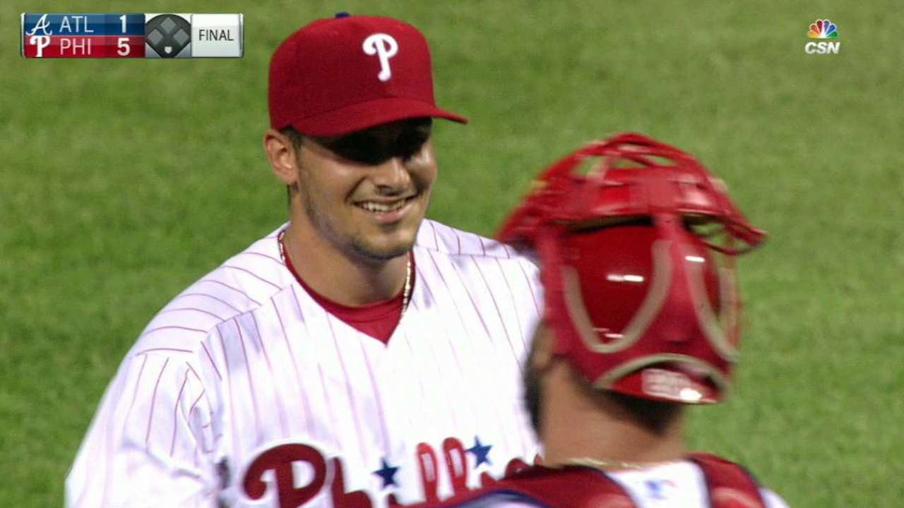 Eflin dazzles, goes distance for 1st victory