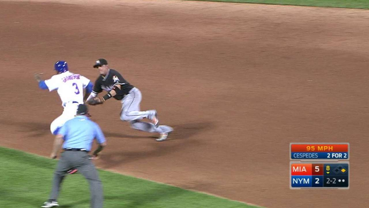 Rodney gets Cespedes to end 8th