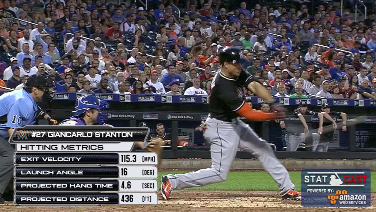 Statcast: Stanton's two drives