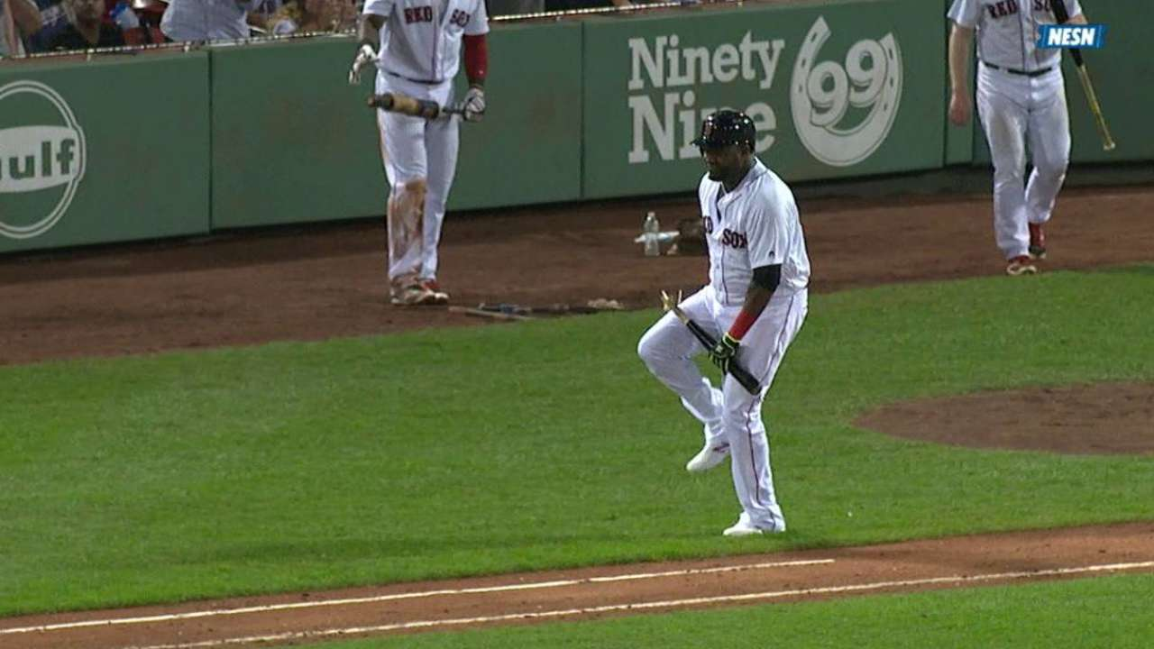 Top GIFs: Only a single, Ortiz punishes the bat