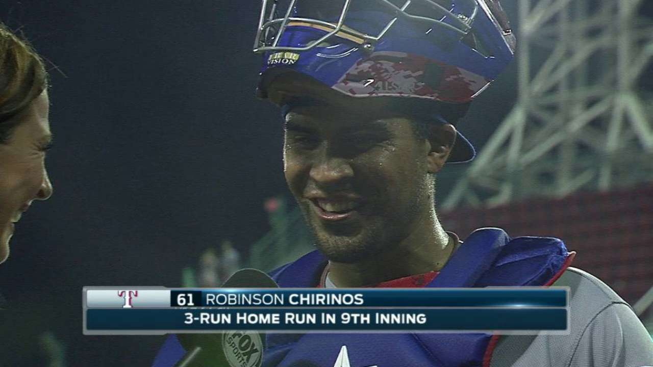Chirinos on win, homer