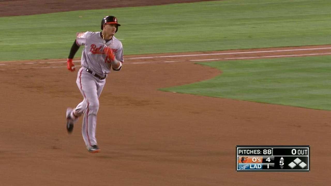 Machado's homer propels O's past Dodgers