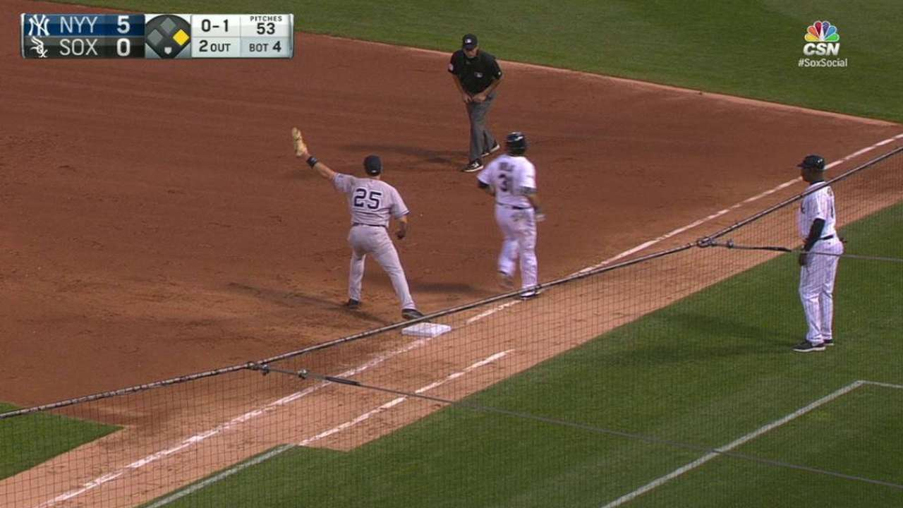 Avila grounds out, later exits