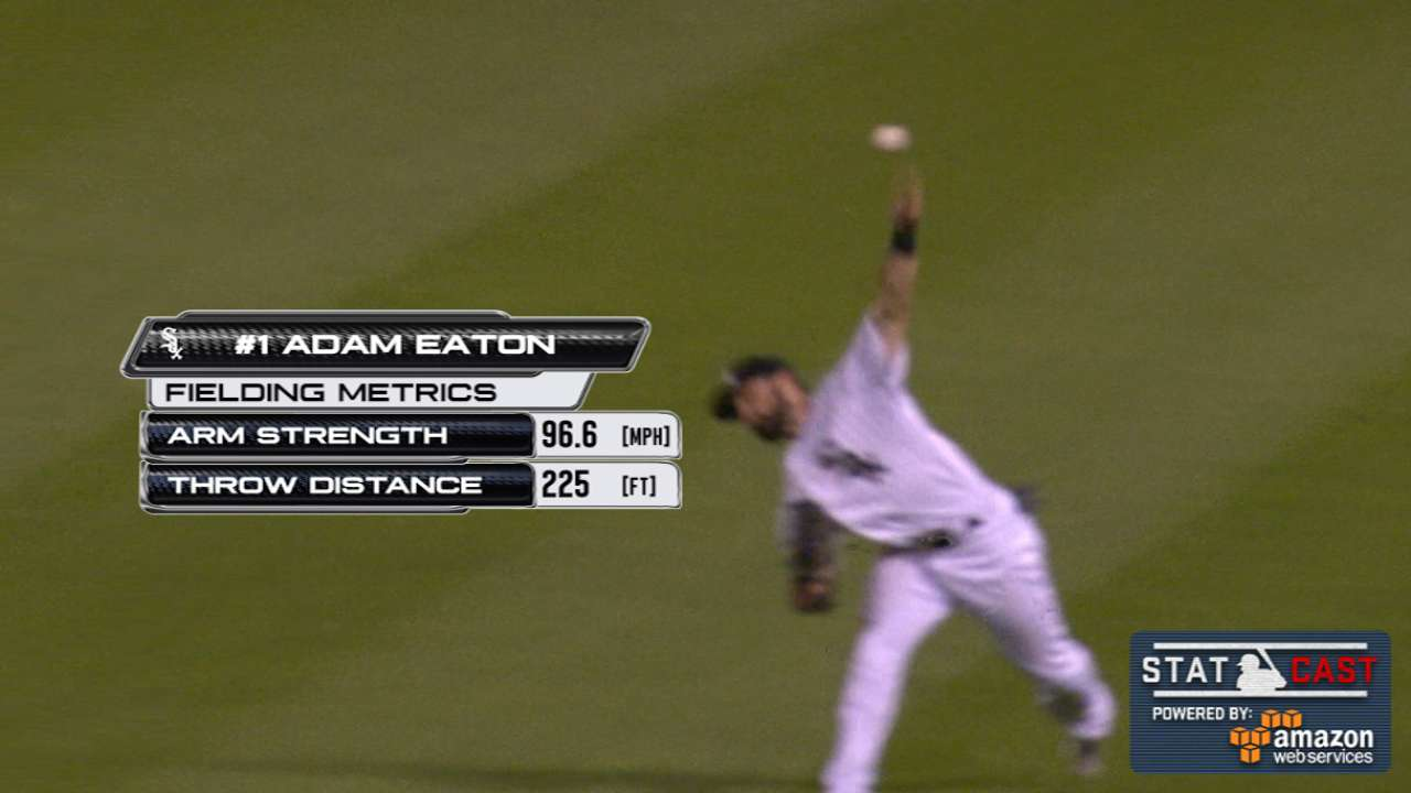 Statcast: Eaton's 97-mph throw