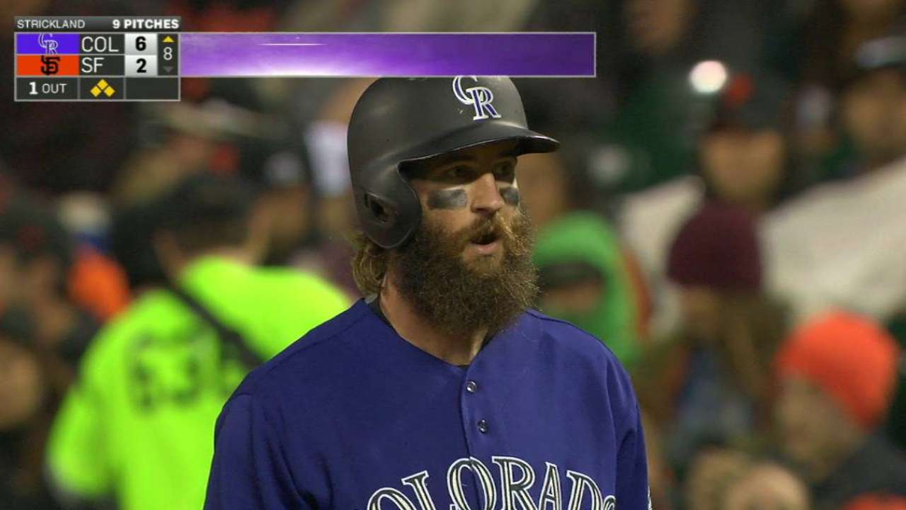 Road warrior: Blackmon hitting away from Coors
