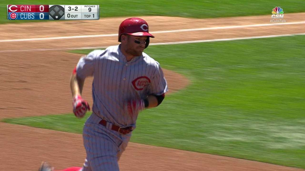 Cozart's leadoff home run
