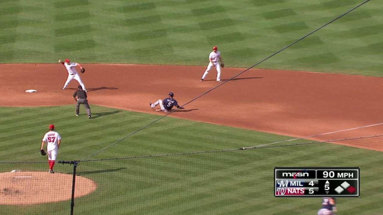 Roark induces double play