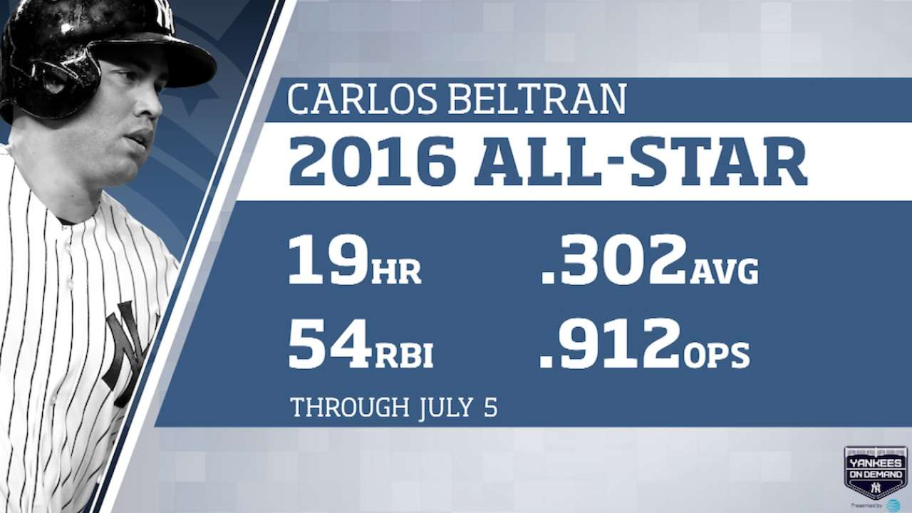 At 39, Beltran 'blessed' to be AL All-Star