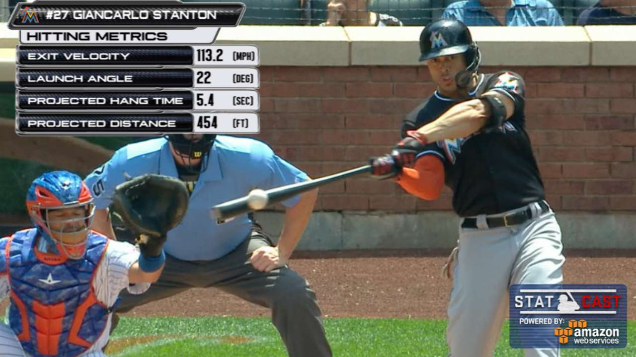 Stanton hits 4th HR in 4 at-bats for No. 200