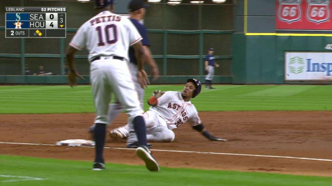 Gomez sparks Astros' roller-coaster win
