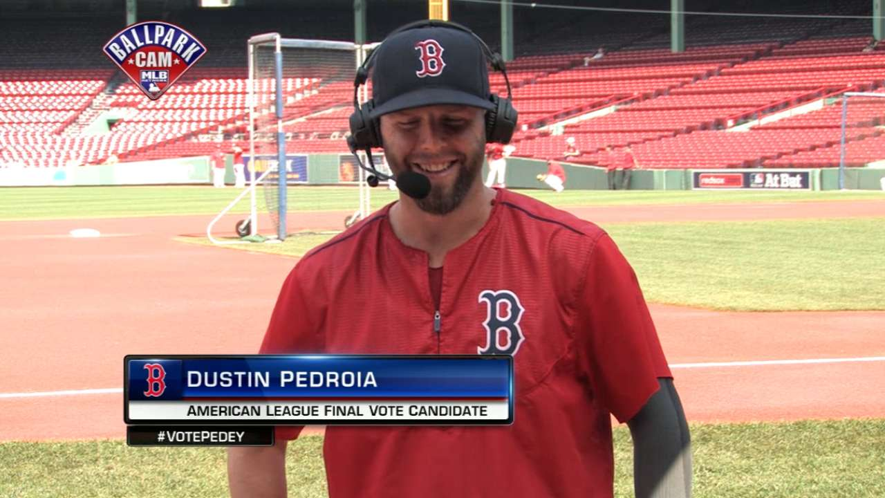 Pedroia in heated race for AL Final Vote