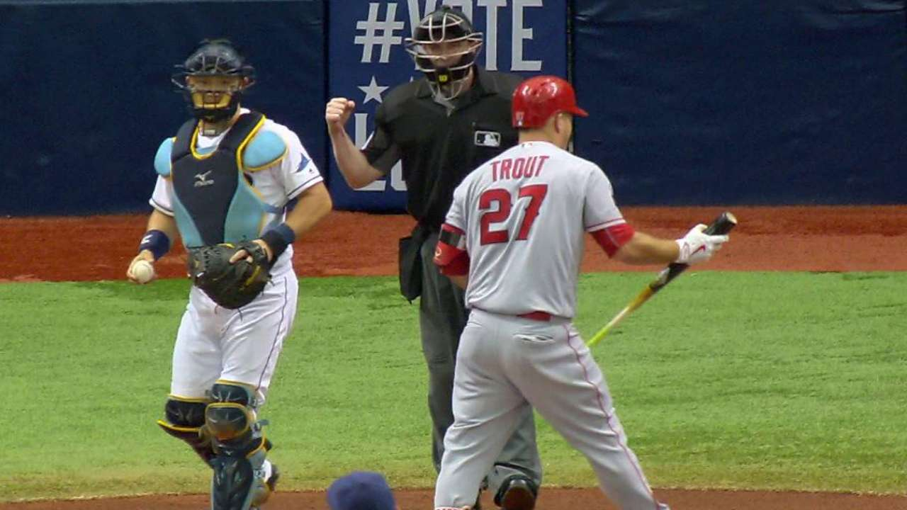 Snell strikes out Trout