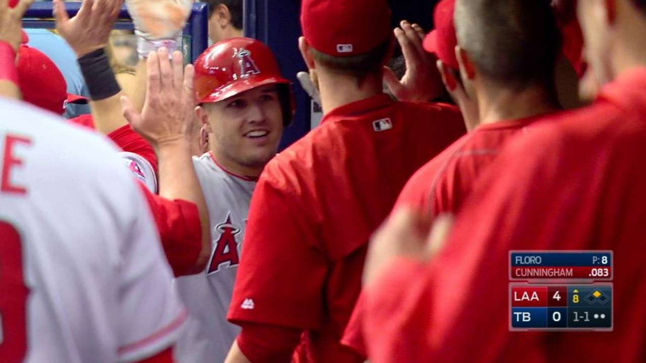 Trout, Pujols double steal