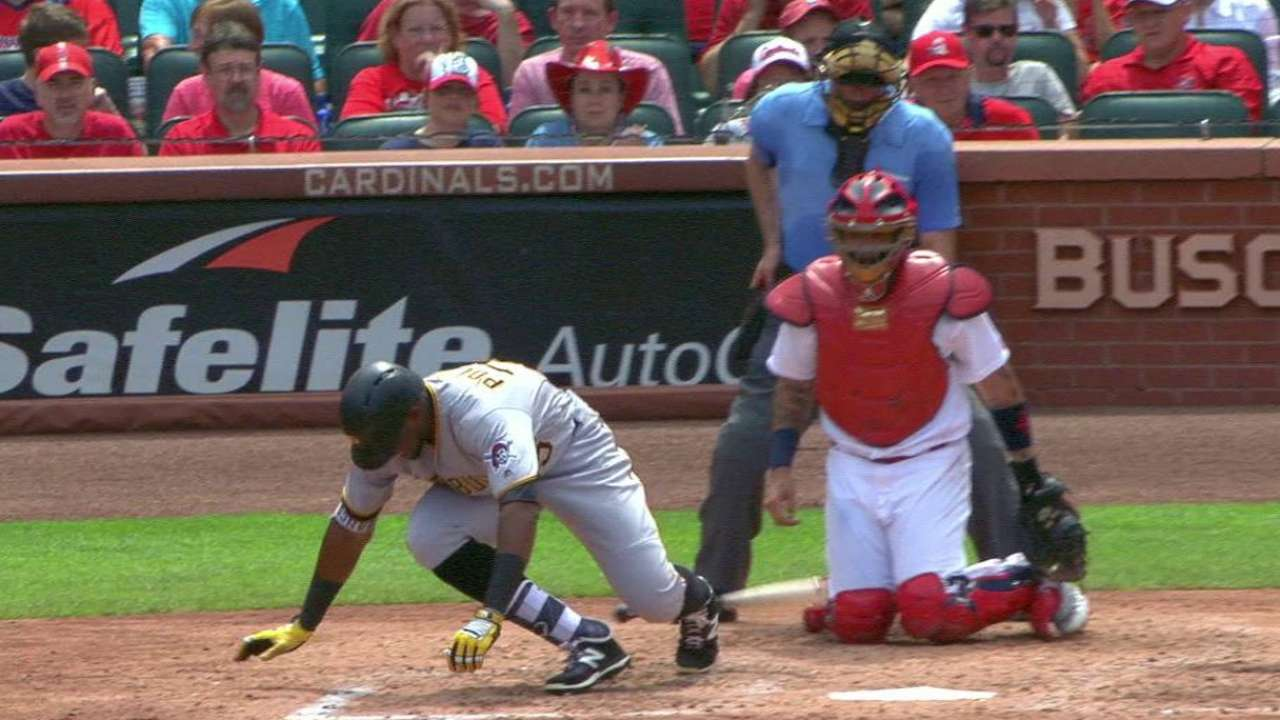 Polanco shaken up, stays in game