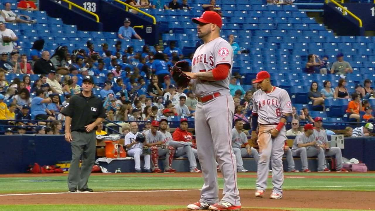 Santiago's 7 strong lead Angels to series win