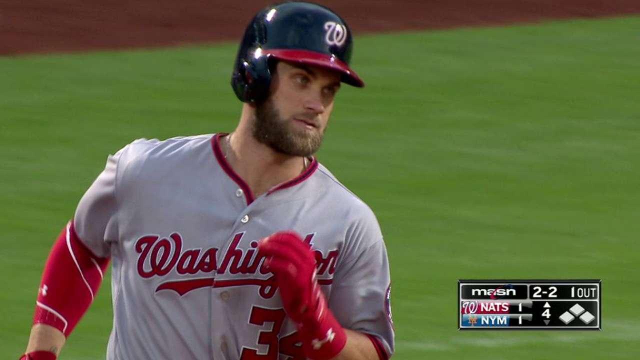 Harper's impressive solo homer