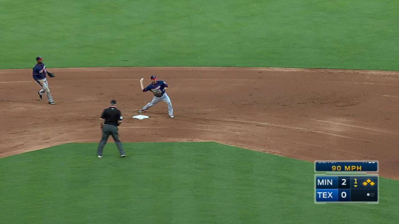 Twins execute the double play