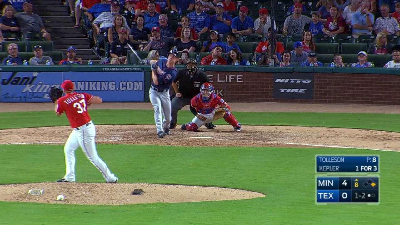 Kepler estalla y Twins le repiten la dosis a los Rangers