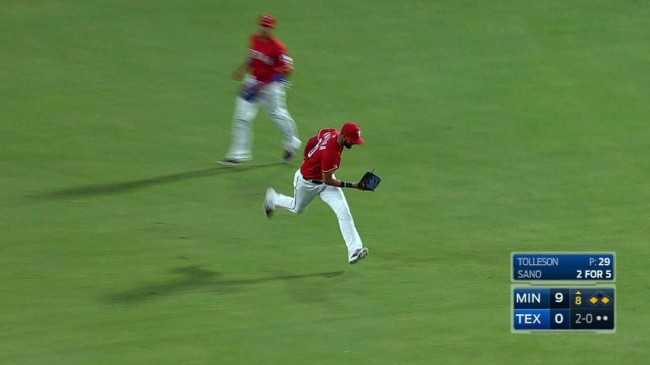 Mazara's long running grab