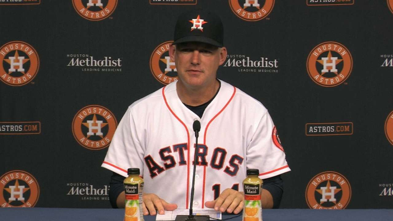 Free-swinging Astros find trouble against Hill